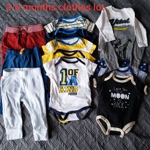 Baby boy cotton clothing lot pants Bodysuit  bluse